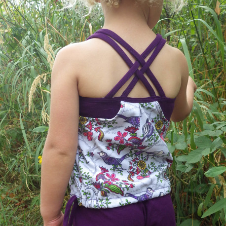 3 Strappy Drawstring Back