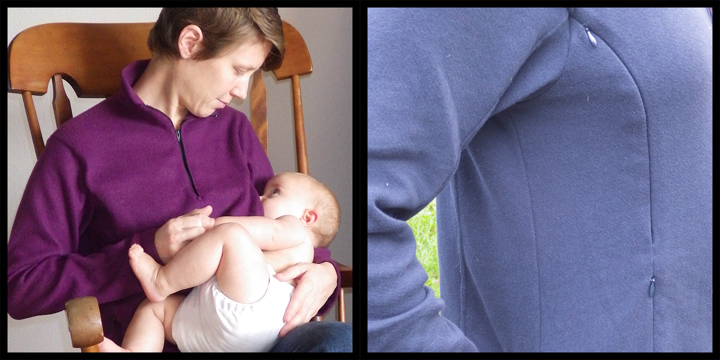 Activewear from 5 Out Of 4 Patterns Ascent with invisible zipper nursing access.