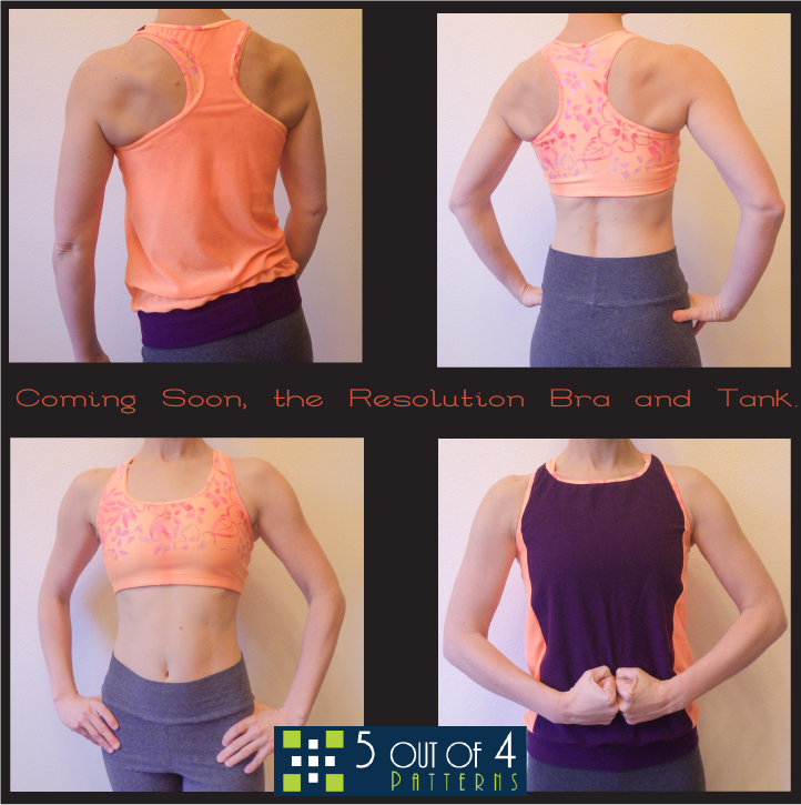 Activewear from 5 out of 4 Patterns - Resolution Bra and Tank