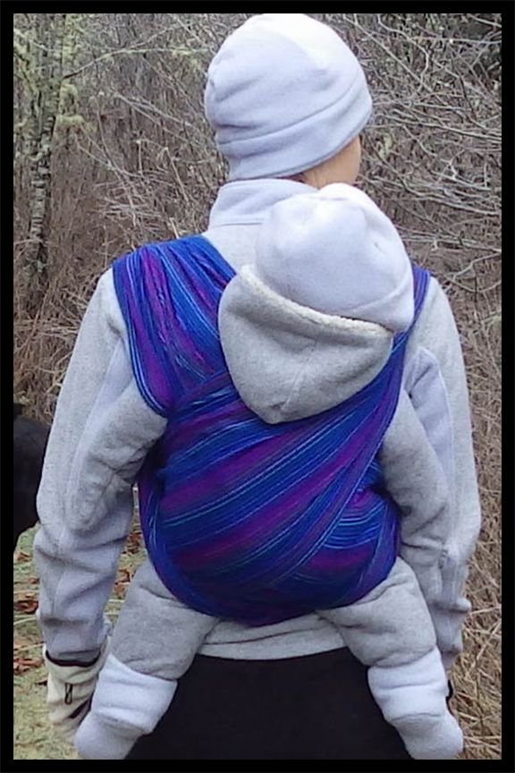 Baby wearing makes hiking easy. I find the double hammock carry shown here to be the most comfortable.