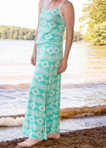5oo4 Lakeshore Tank lengthened to a maxi dress