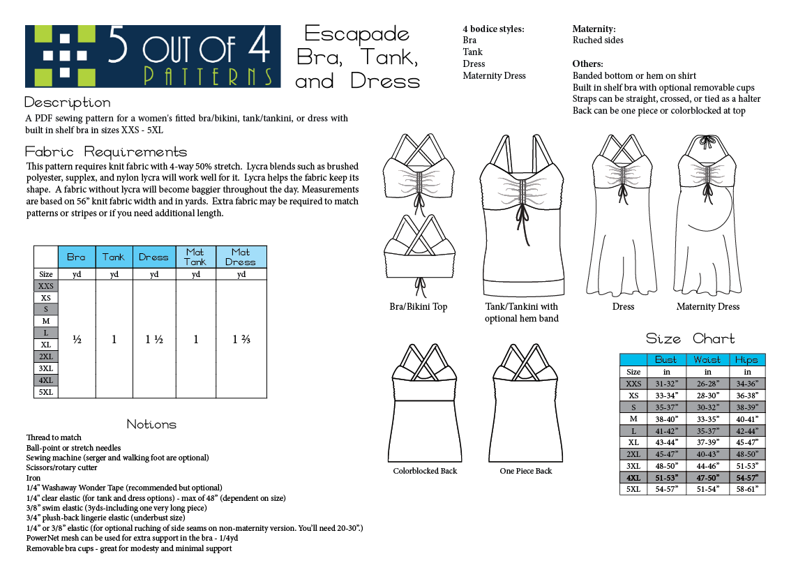 5 out of 4 Patterns Escapade info
