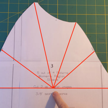 Sewing School: Broad and Square Shoulder Adjustment for Raglan Style Tops