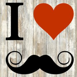 I Heart Mustaches Cut File