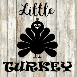 Little Turkey Cut File