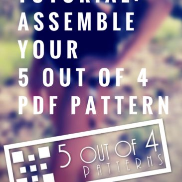 Tutorial: Assemble a 5 out of 4 PDF Pattern