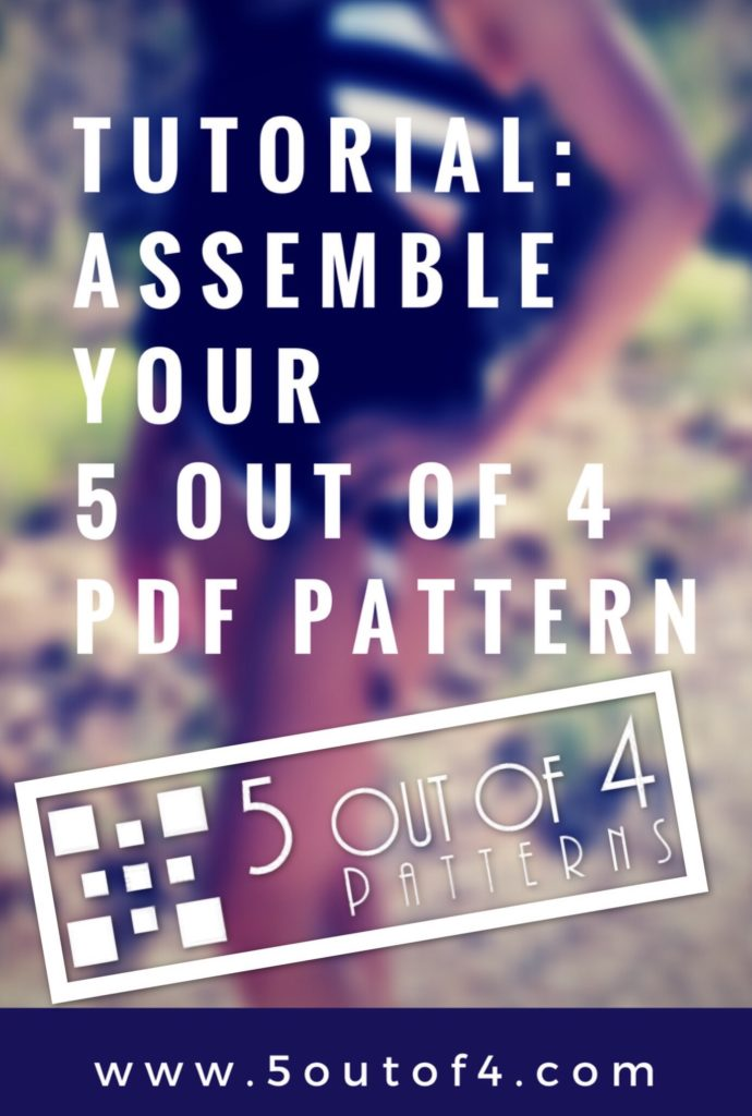 Assemble a 5 out of 4 PDF Pattern
