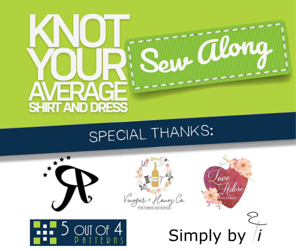 knot your average shirt and dress sew along day 4 sponsors