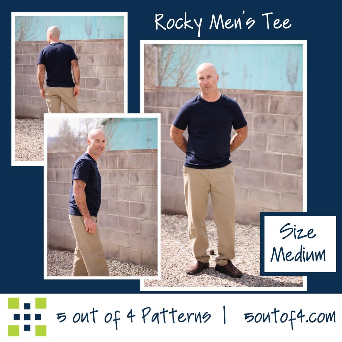 Men's Rocky Tee Pattern