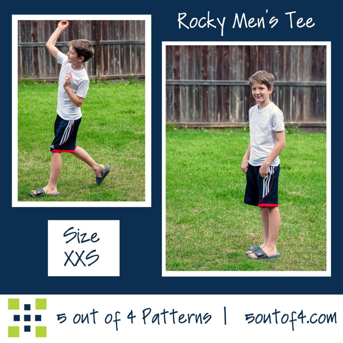 5oo4 Men's Rocky Semi-fitted Tee sz XXS short sleeves