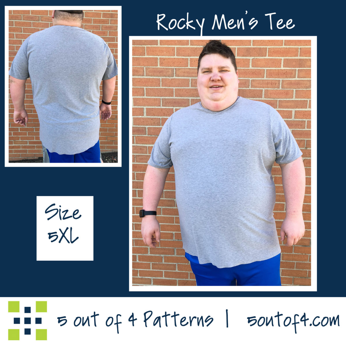 5oo4 Men's Rocky Semi-fitted Tee sz5XL
