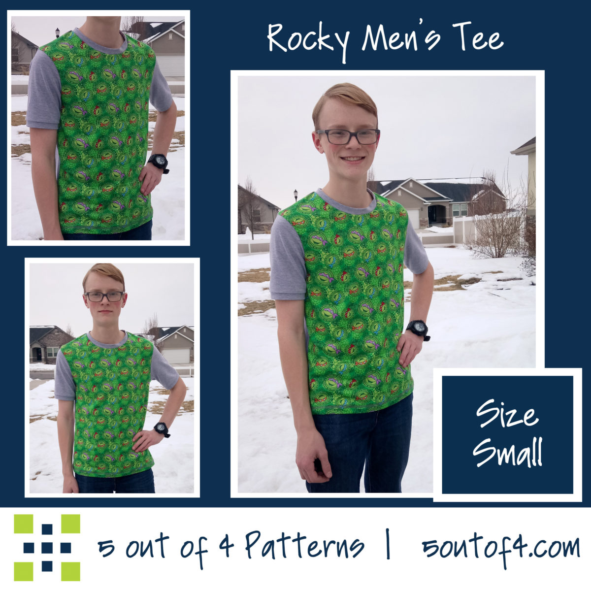 5oo4 Men's Rocky Semi-fitted Tee szS copy