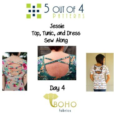 Jessie Top, Tunic, and Dress Sew Along Day 4