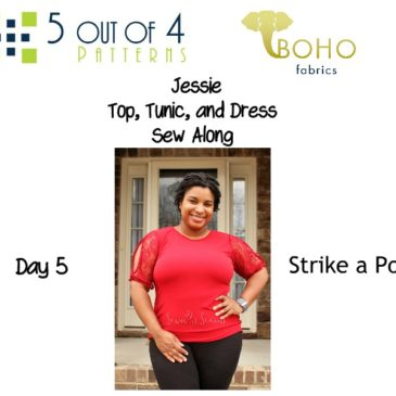 Jessie Top, Tunic, and Dress Sew Along Day 5