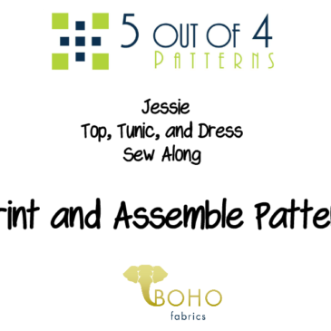 Jessie Top, Tunic, and Dress Sew Along Day 1
