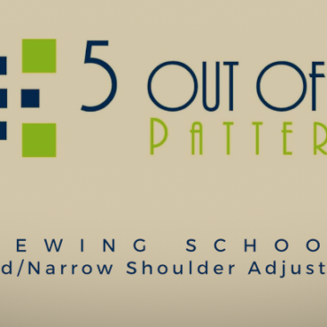 Sewing School: Broad/Narrow Shoulder Adjustment