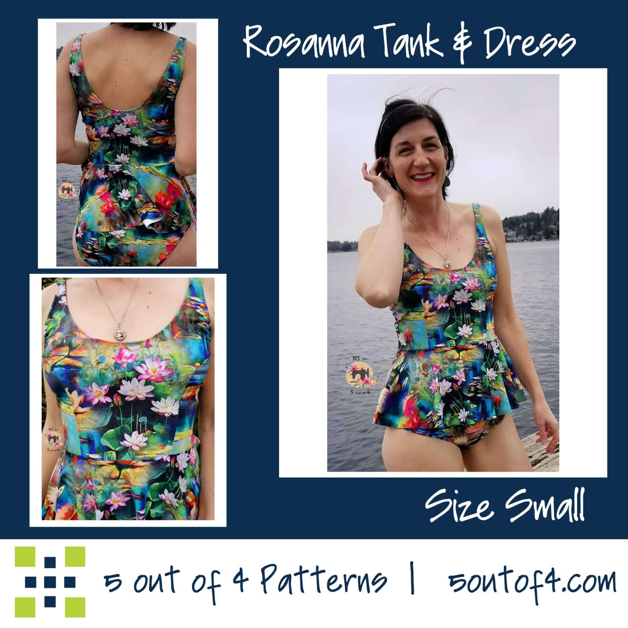 1050f36fc95ef Rosanna Tank, Tankini, Dress and Swim Dress PDF Pattern