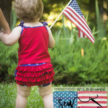 Sew Americana Blog Tour and a Ruffle Bummies Tutorial