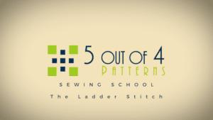 sewing school: ladder stitch