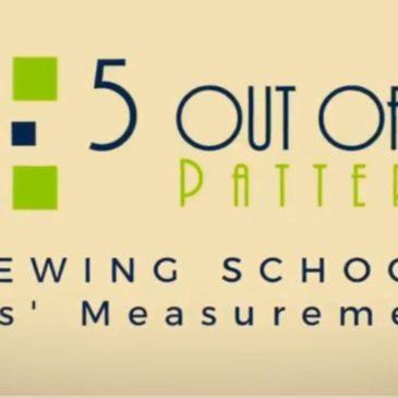 Sewing School Measurements Part 2: Kids