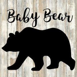 Baby Bear Cut File