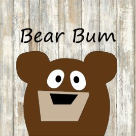Bear Bum Cut File