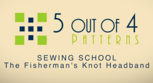 Sewing school fisherman's knot