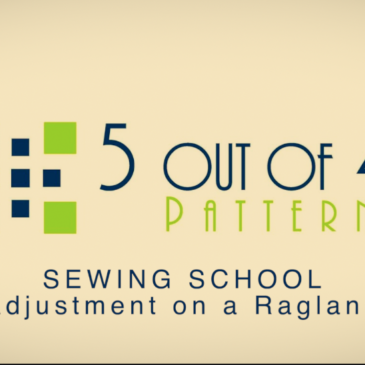 Sewing School: Full Bicep Adjustment on a Raglan Sleeve