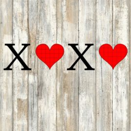 XOXO Valentine Cut File