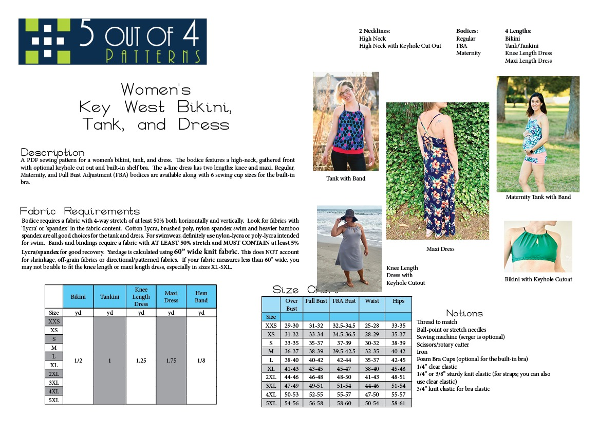 5oo4 Women's Key West info page