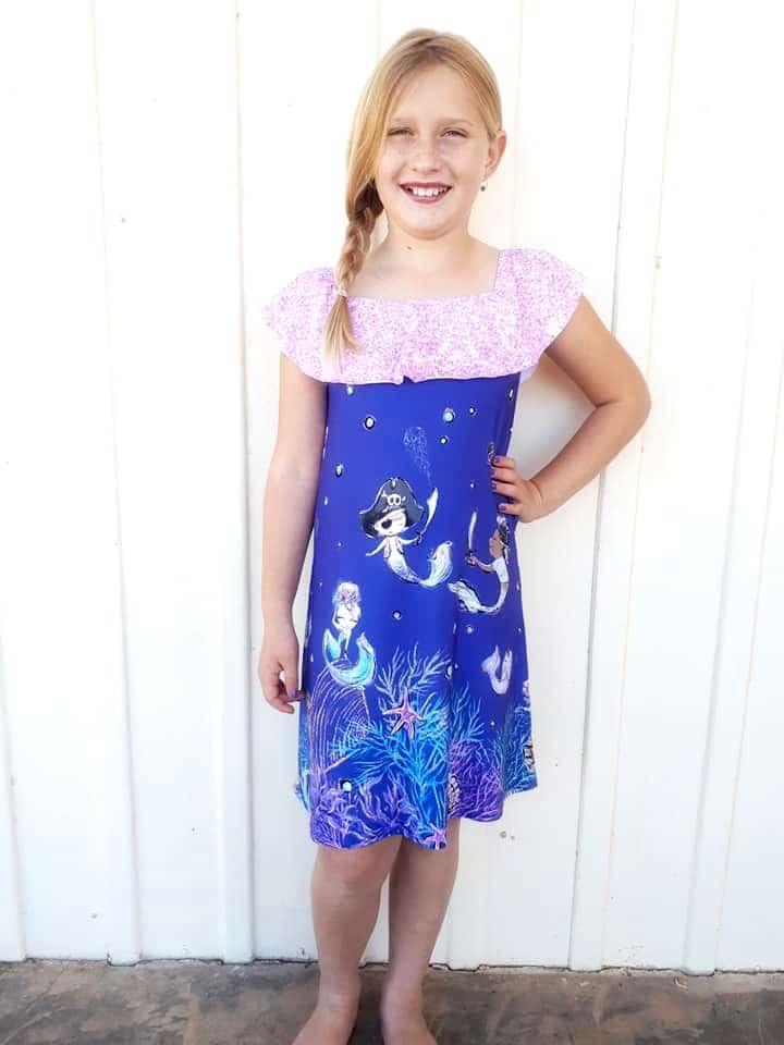 5oo4 Girls' Lizzy Dress size 8 (6)