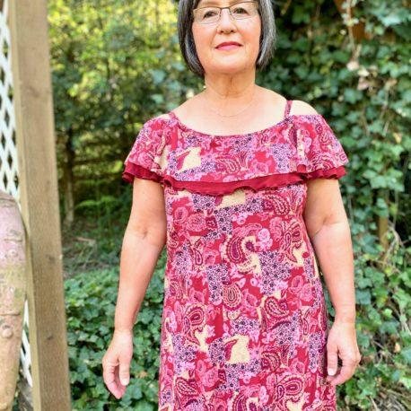 5oo4 Women_s Lizzy Dress-dbl flounce size M