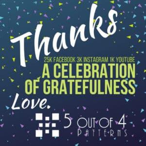 5 out of 4 celebration of gratefulness