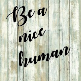 Be a Nice Human Cut File