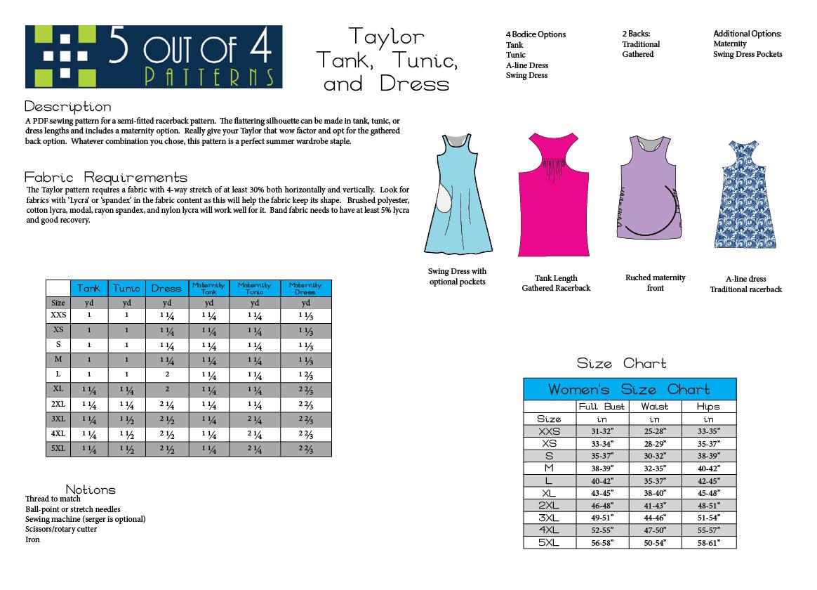 Info Sheet for Taylor Racerback
