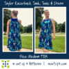 Taylor Racerback Swing dress gathered back