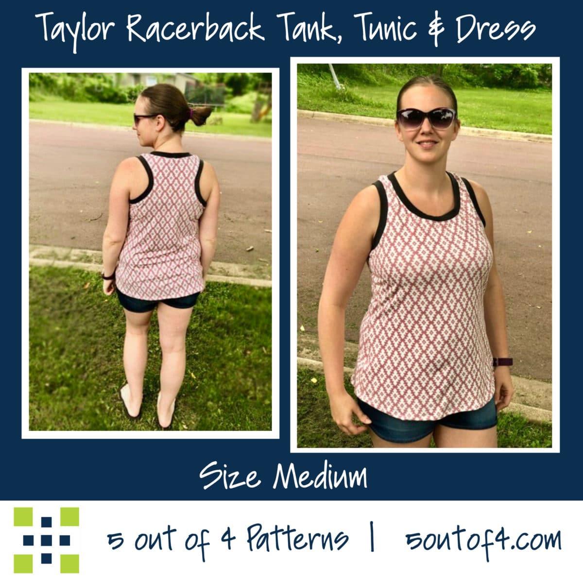 Taylor Racerback tank plain back
