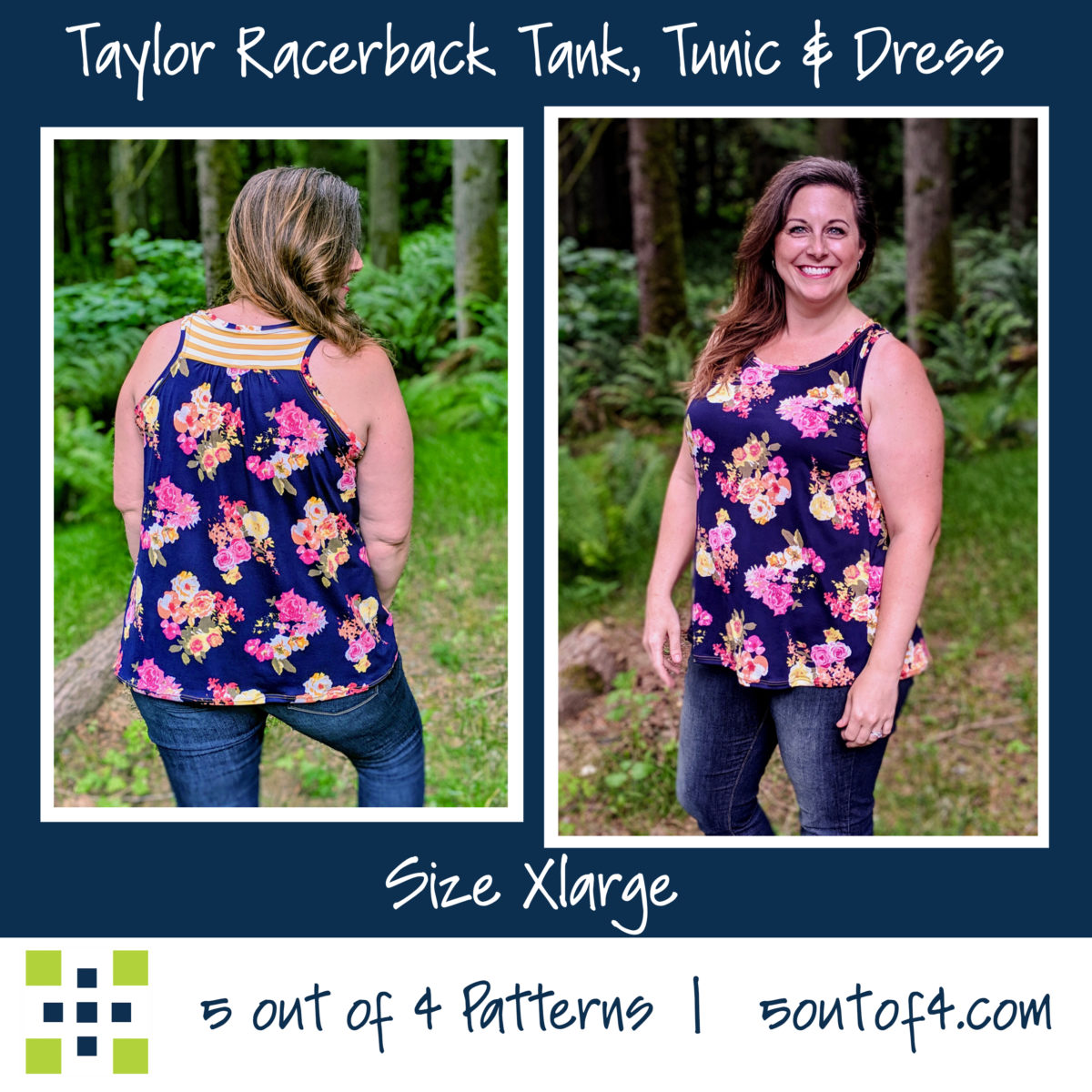 Taylor Racerback gathered back tank