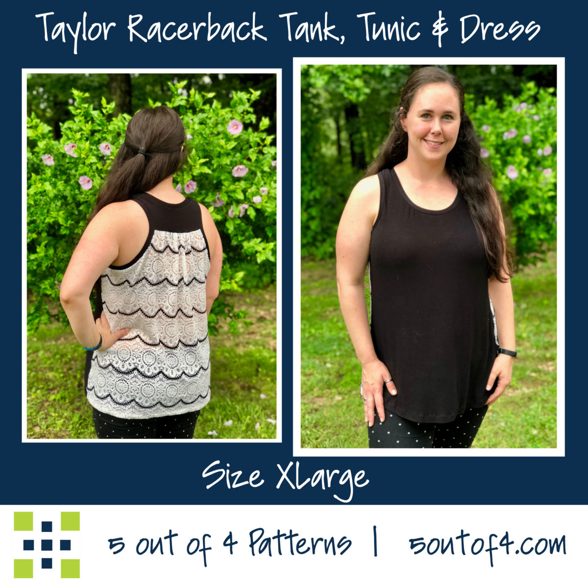 Taylor Racerback tank gathered back