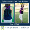 Taylor Racerback Tank Maternity with gathered back