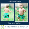 5oo4 kids' swim trunks size 18-24 cargo