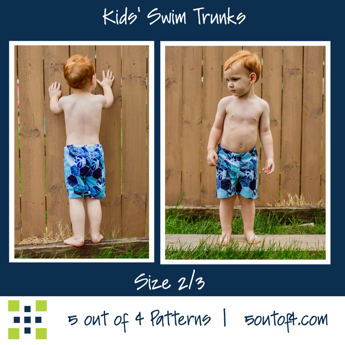 5oo4 kids' swim trunks size 2:3
