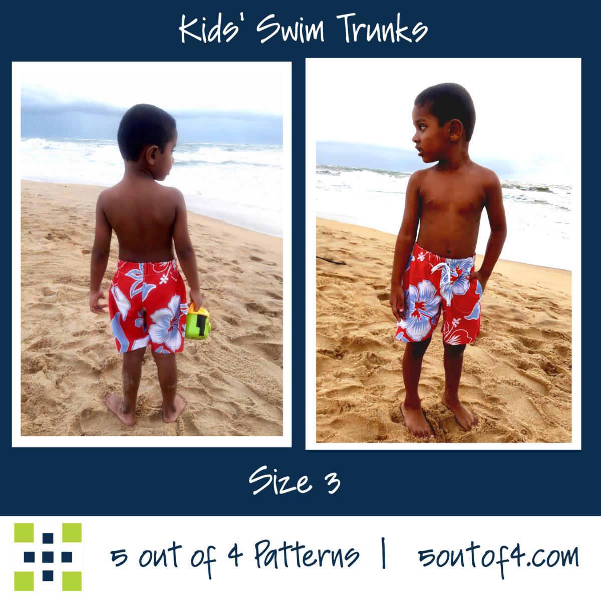 5oo4 kids' swim trunks size 3