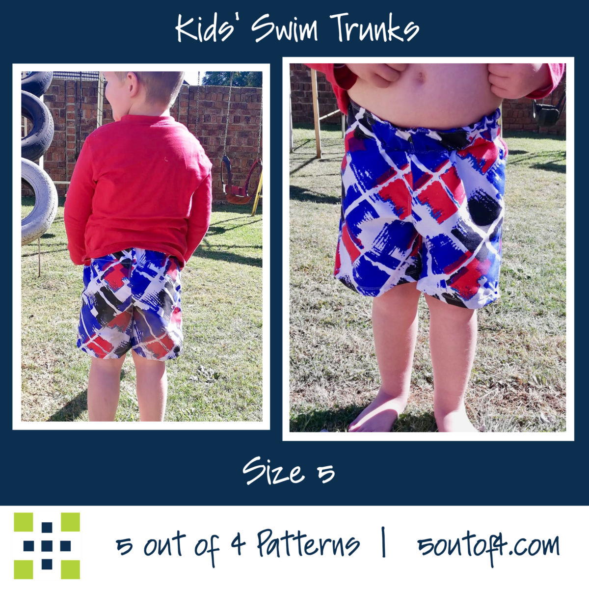 5oo4 kids' swim trunks size 5
