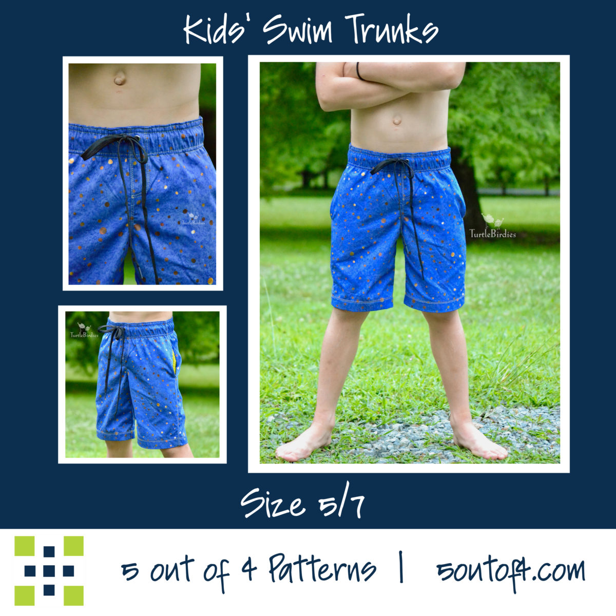 kids' swim trunks size 5:7