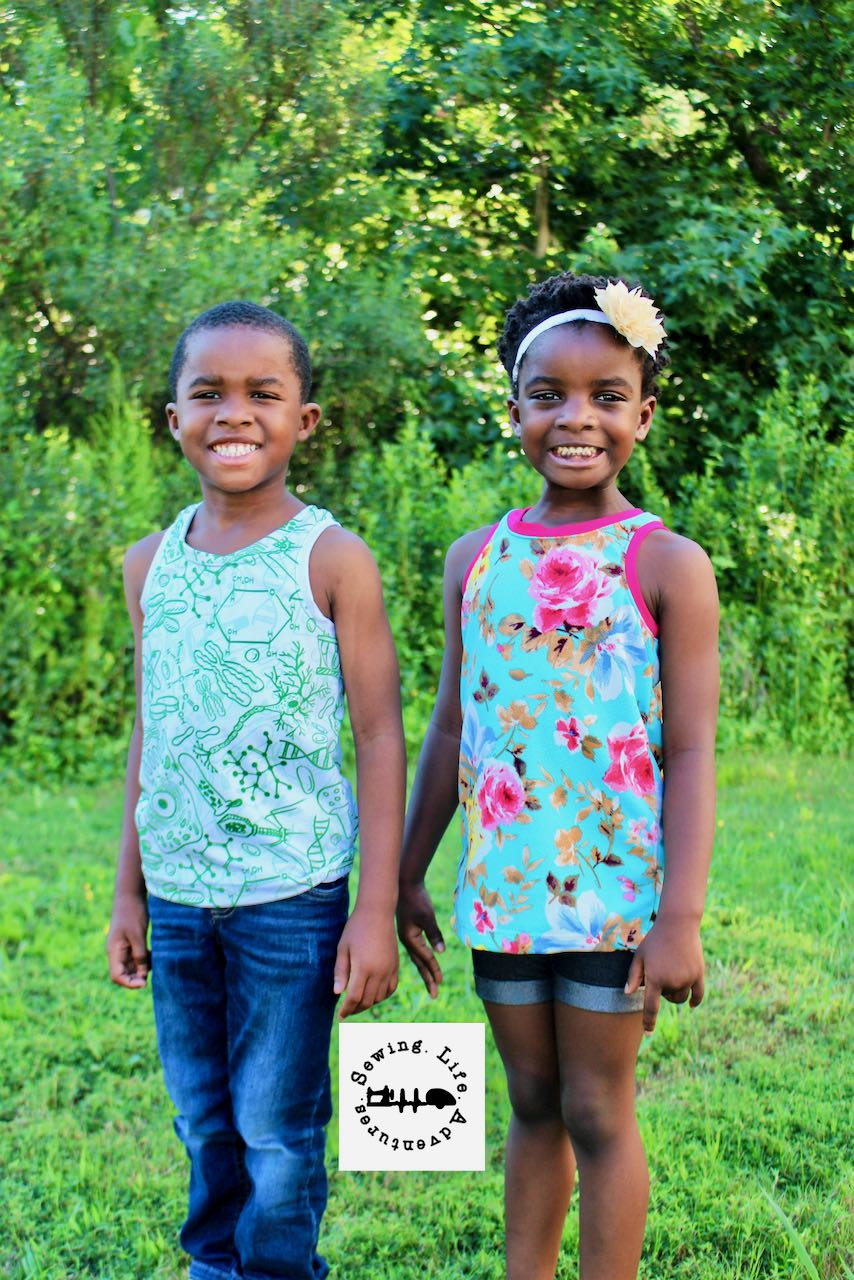 Kids Taylor racerback pattern in tank and tunic lengths
