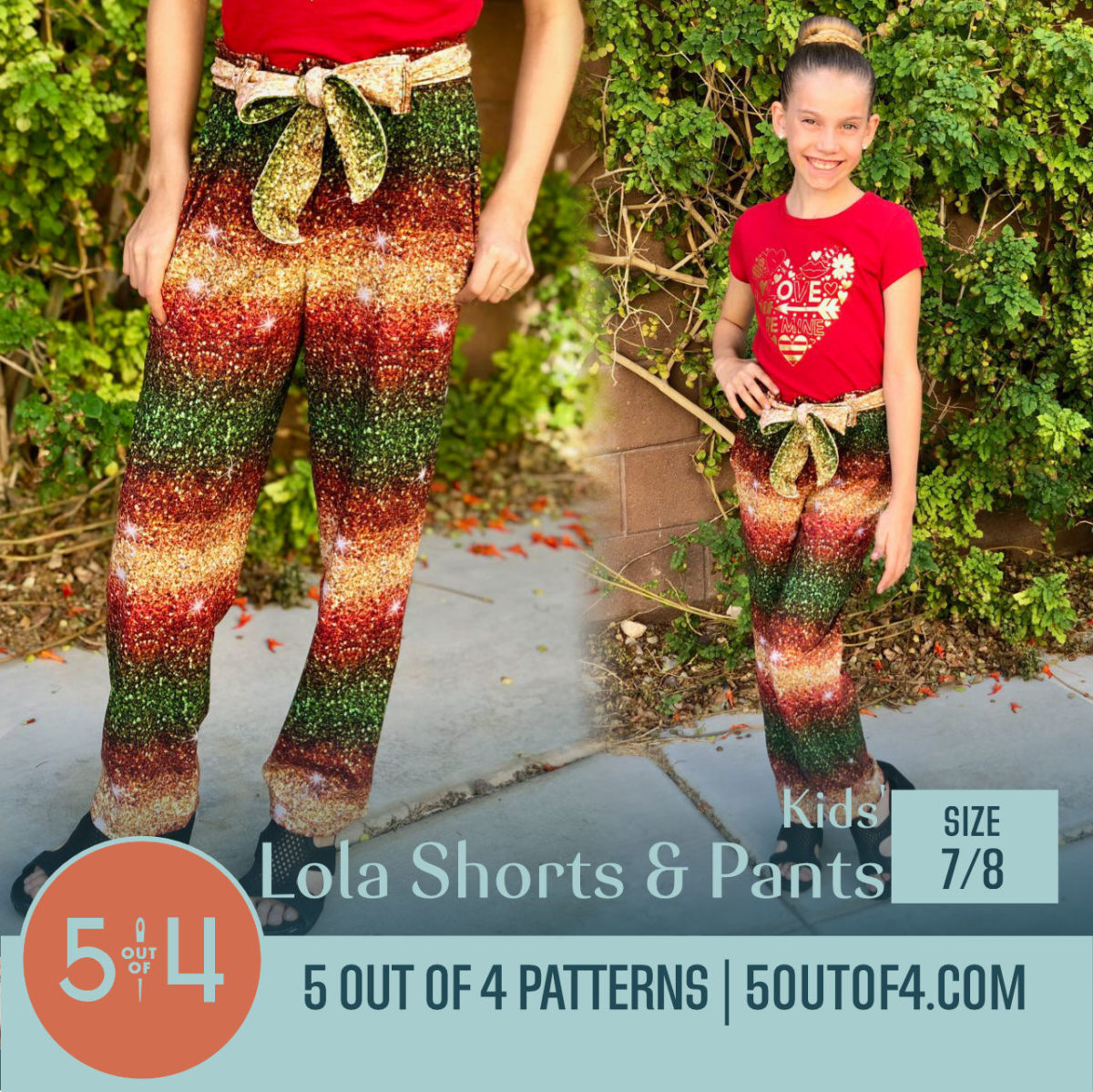 kids lola shorts and pants 7:8
