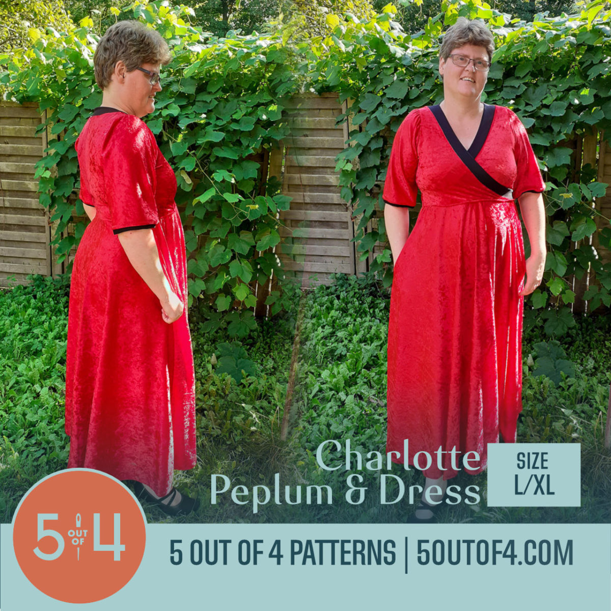 5oo4 Charlotte Peplum and Dress