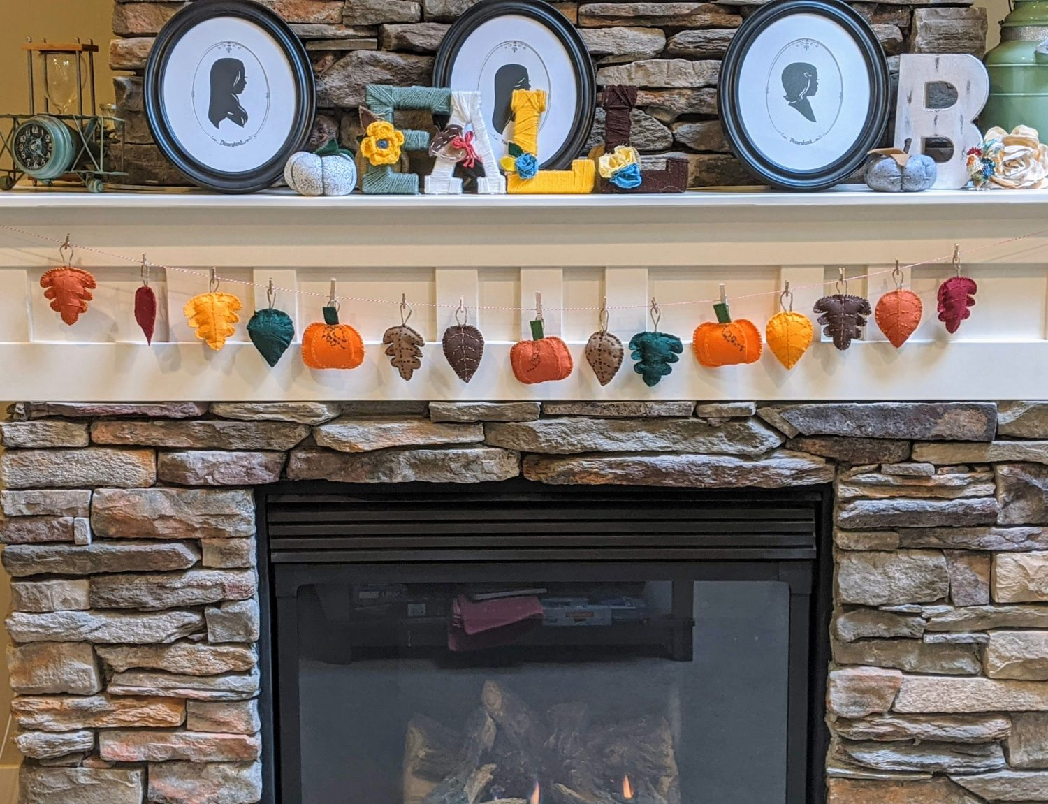Fall Garland Diy With Free Template 5 Out Of 4 Patterns