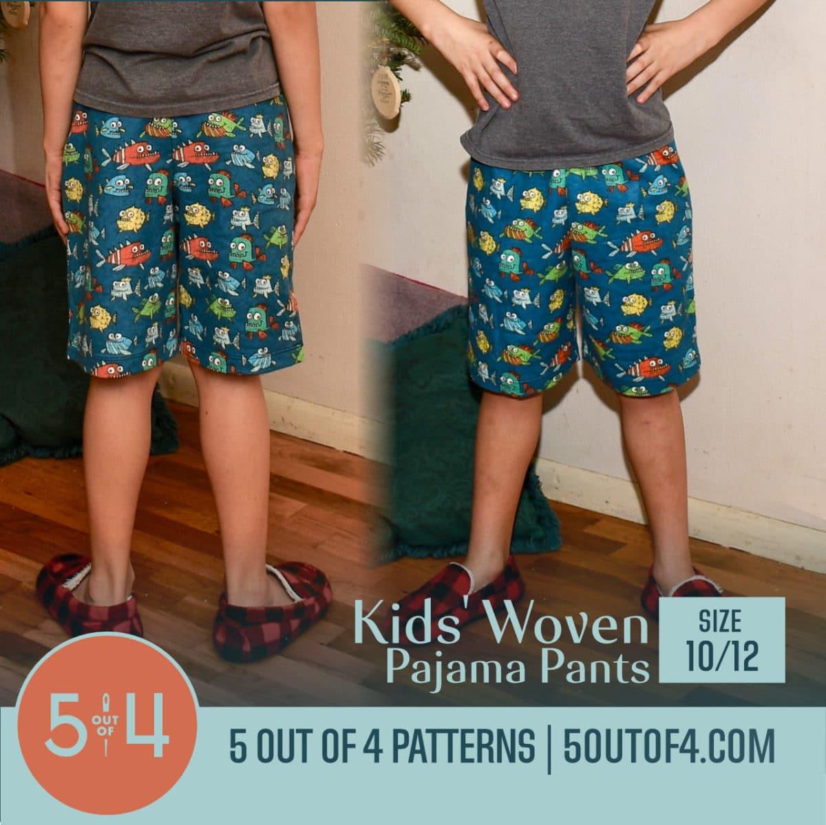 Kids' Woven Pajama Pants size 10:12